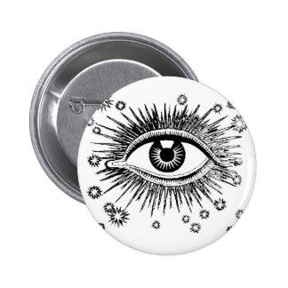El ojo místico ve todos pin redondo de 2 pulgadas