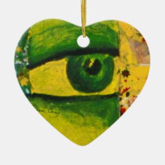 El ojo - oro y ornamento del corazón de la concien ornato