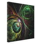 El ojo para observar arte abstracto envolvió la im impresiones en lona estiradas