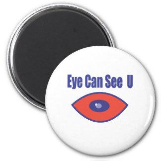 El ojo puede ver el U. Imán Redondo 5 Cm