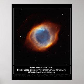 """""""El ojo telescopio de Hubble de la nebulosa de la  Póster"""