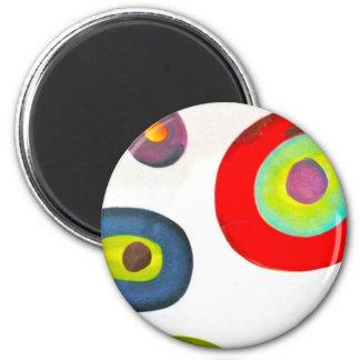 El ojo ve colores imán redondo 5 cm
