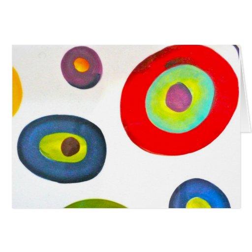 El ojo ve colores tarjeta pequeña