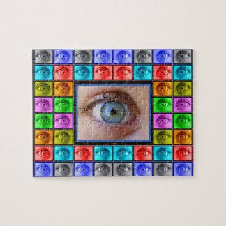 El ojo ve todo desconcertar puzzle