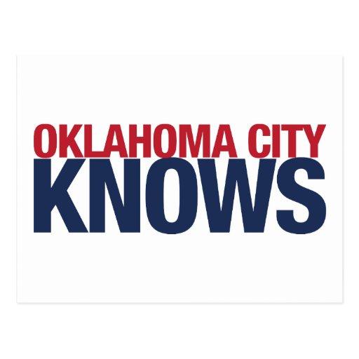 El Oklahoma City sabe Tarjeta Postal