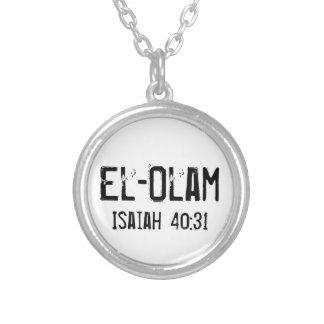 EL-Olam el 40:31 eterno de Isaías de dios Colgante Redondo