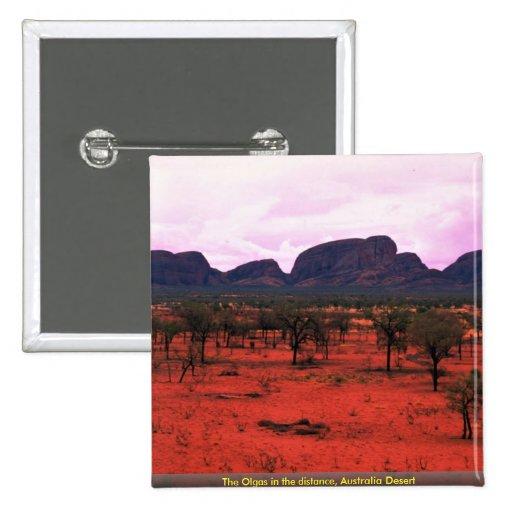 El Olgas en la distancia, desierto de Australia Pin