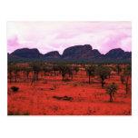 El Olgas en la distancia, desierto de Australia Tarjeta Postal
