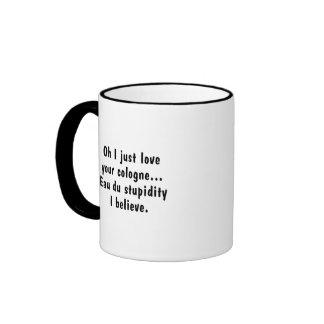 El olor de la incompetencia taza de café