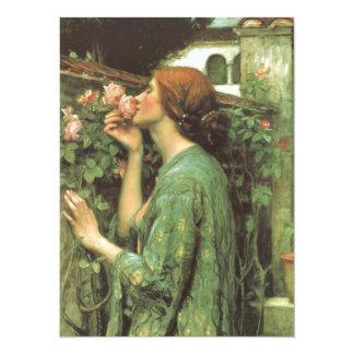 El olor de rosas invitación 13,9 x 19,0 cm