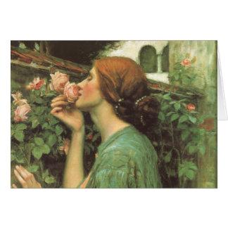 El olor de rosas tarjeta de felicitación