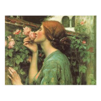 El olor de rosas postal