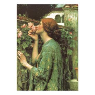 El olor de rosas tarjetas de visita grandes