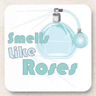El olor tiene gusto de rosas posavasos de bebida