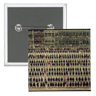 El Ommeganck en Bruselas Pin Cuadrada 5 Cm