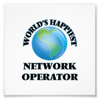 El operador de la red más feliz del mundo fotografías