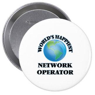 El operador de la red más feliz del mundo chapa redonda 10 cm