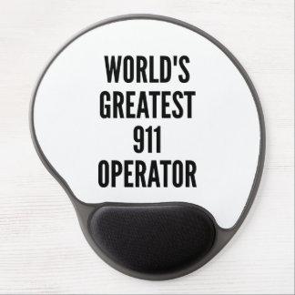 El operador más grande 911 de los mundos alfombrillas de ratón con gel