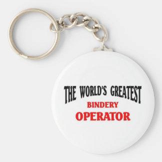 El operador más grande de la encuadernación llavero