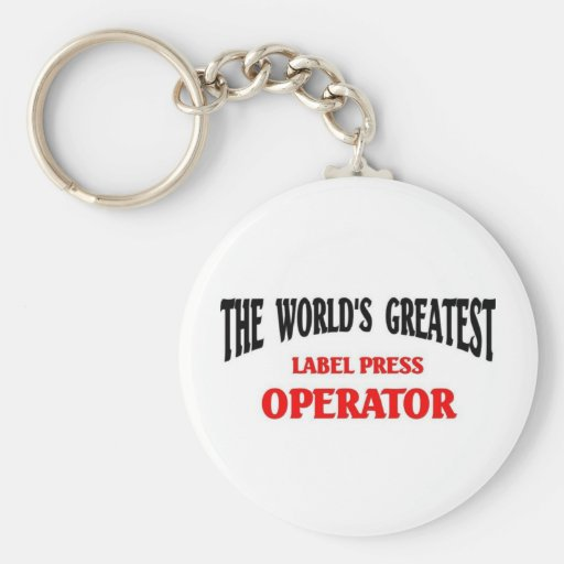 El operador más grande de la prensa de la etiqueta llavero