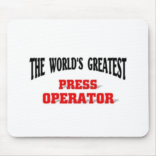 El operador más grande de la prensa tapete de ratón
