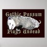 El oposum gótico juega a Undead Posters