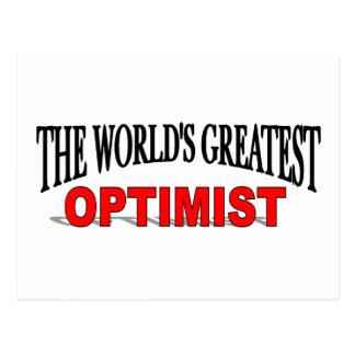 El optimista más grande del mundo postales