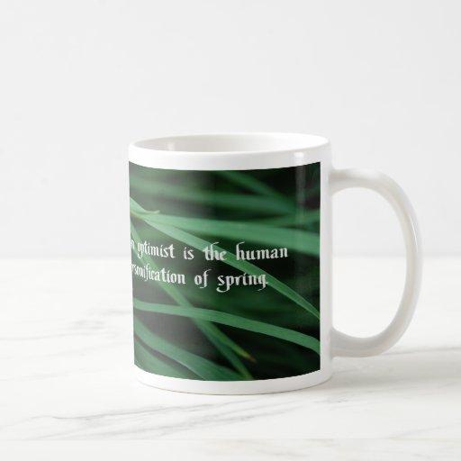 El optimista tazas