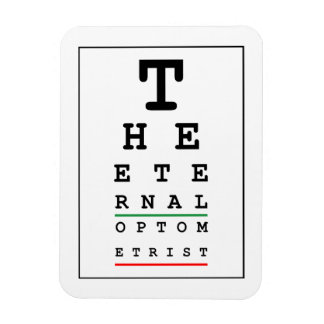 El optometrista eterno imán rectangular