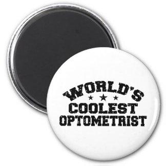 El optometrista más fresco del mundo imán redondo 5 cm