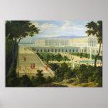 El Orangerie en el castillo francés de Versalles Póster