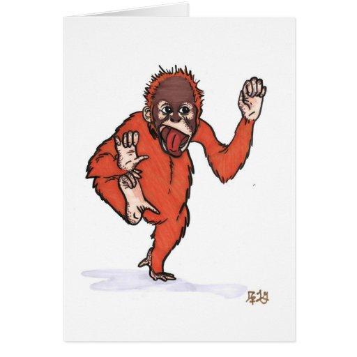el orangután tonto felicitación