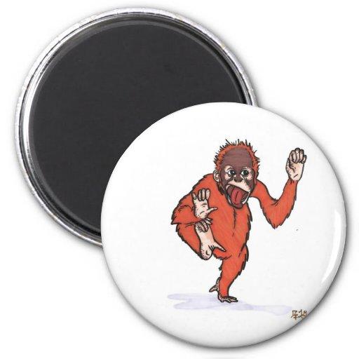 el orangután tonto imán redondo 5 cm