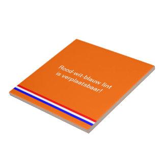 El oranje de Keramieke Tegel resolvió Azulejo Cuadrado Pequeño