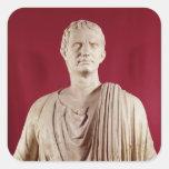 El Orating del Sulla de Lucius Cornelio Pegatina Cuadrada