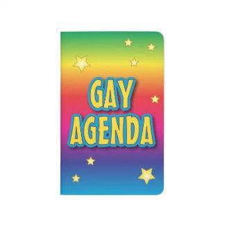 El orden del día gay cuadernos grapados