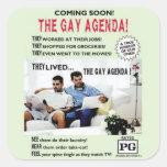 ¡El orden del día gay! Calcomanías Cuadradass Personalizadas