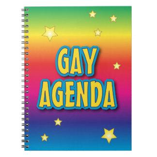 El orden del día gay spiral notebook
