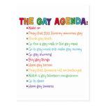 El orden del día gay tarjeta postal