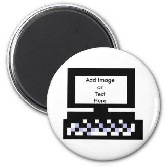 El ordenador Bk de las imágenes de la serie del ar Imanes De Nevera