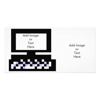 El ordenador Bk de las imágenes de la serie del ar Tarjetas Fotograficas Personalizadas
