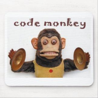 El ordenador codifica el cojín de ratón en softwar alfombrilla de ratón