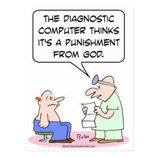 El ordenador dice que la enfermedad es el castigo  tarjetas postales
