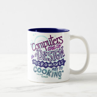 El ordenador es diseñar. taza de dos tonos