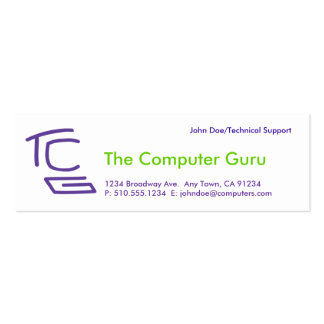 El ordenador Guru Tarjeta De Visita