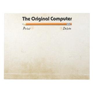 El ordenador original blocs de notas