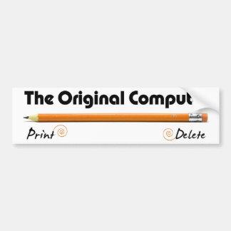 El ordenador original etiqueta de parachoque