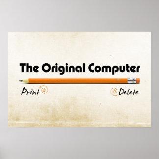 El ordenador original póster