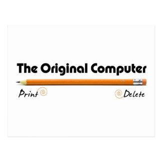 El ordenador original postales