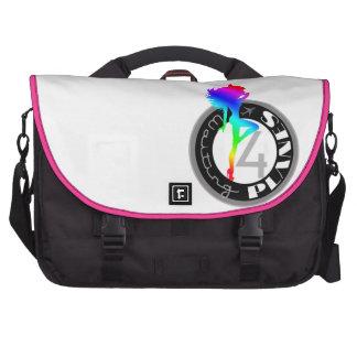 El ordenador portátil del logotipo del arco iris d bolsas de portatil